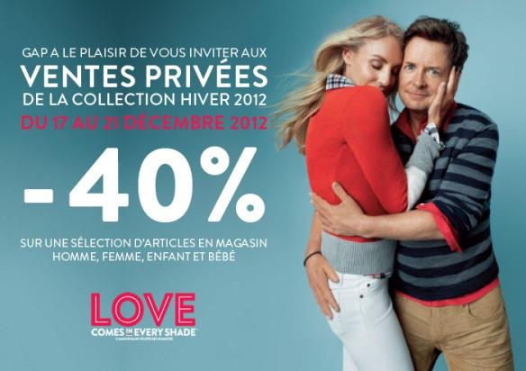 gap ventes privées