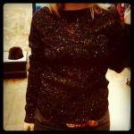 pull paillette multicolore